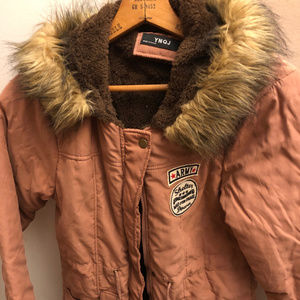 Faux Fur Trimmed Fleece Lined Parka